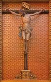 MADRID - MARCH 10: Crucifixion fom side altar of Iglesia catedral de las fuerzas armada de Espana on March 10, 2013 in Madrid.in March 10, 2013 in Spain. — Stock Photo