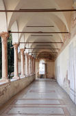 Verona - and atrium of San Bernardino church — Stock Photo
