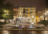 Verona - Fountain from Piazza Bra at night — Stock Photo