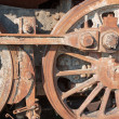 Detail of driving rod mechanism in rust on old steam locomotive — Stock Photo #40952301