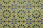 Spain - wall tiling in Mudejar style — Stock Photo
