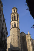 Barcelona - tower of old gothic church of hl. Agueda — Stock Photo