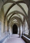 Slovakia - Hronsky Benadik - gothic corridor of atrium - old benedictine cloister — Stock Photo