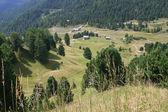 Chalets in dolomite meadows — Foto de Stock