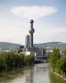 Hundertwasserturm from vienna - generation plant — Stock Photo