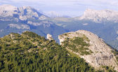 Landscape of dolomite - outlook from cristalo massif — Stock Photo