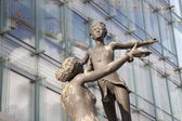 Brussels - modern statue for European commission — Stock Photo