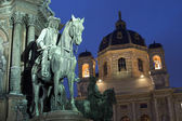 Vienna - Detail from Maria Theresia landmark in dusk — Stock Photo