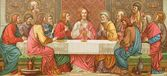 Last supper of Christ from old Missale Romanum from year 1924 — Stock Photo