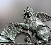 Lion of st. Mark - Venice - patron of town — Stock Photo
