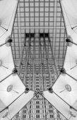 Modern construction under Grande Arche in Paris — Stock Photo