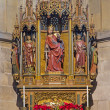 VIENNA, AUSTRIA - FEBRUARY 17, 2014: Gothic carved altar in st. Katherine chapel in St. Stephens cathedral or Stephansdom. — Stock Photo