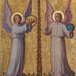 Постер, плакат: VIENNA AUSTRIA FEBRUARY 17 2014: Fresco of angels by Josef Kastner 1906 1911 in Carmelites church in Dobling