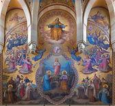 VIENNA, AUSTRIA - FEBRUARY 17, 2014: Big fresco from presbytery of Carmelites church in Dobling Josef Kastner from years 1906 - 1911. — Stock Photo