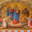 ������, ������: VIENNA AUSTRIA FEBRUARY 17 2014: Fresco of Madonna in the heaven by Josef Kastner from 1906 1911 in Carmelites church in Dobling