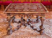 SAINT ANTON, SLOVAKIA - FEBRUARY 27, 2014: Mosaic table from 18. cent. in Audience saloon in palace Saint Anton. — Stock Photo