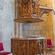 VIENNA, AUSTRIA - FEBRUARY 17, 2014: Gothic marble baptistery of St. Stephens cathedral or Stephansdom in st. Katherine chapel (1481). — Stock Photo