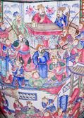 SAINT ANTON, SLOVAKIA - FEBRUARY 26, 2014: Detail of big vase the Chinese saloon from 19. cent. in palace Saint Anton. — Stock Photo