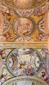 SAINT ANTON, SLOVAKIA - FEBRUARY 26, 2014: Ceiling of chapel in — Stock Photo
