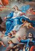 SAINT ANTON, SLOVAKIA - FEBRUARY 26, 2014: Assumption of Virgin Mary paint from altar of chapel in Saint Anton palace by Anton Schmidt from years 1750 - 1752. — Stock Photo