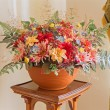 Artificial flowers decoration from palace Saint Anton — Stock Photo #42370531