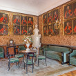 Постер, плакат: SAINT ANTON SLOVAKIA FEBRUARY 26 2014: Main saloon with the portraits of glorious officers from war with the Turks by Carl Emrich 1727 1731 in palace Saint Anton