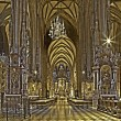 VIENNA, AUSTRIA - FEBRUARY 17, 2014: Indoor of St. Stephens cathedral or Stephansdom. — Stock Photo