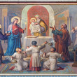 VIENNA, AUSTRIA - FEBRUARY 17, 2014: Presentation little Jesus in the Temple fresco by Josef Kastner from 1906 - 1911 in Carmelites church in Dobling. — Stock Photo #42378767