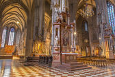 VIENNA, AUSTRIA - FEBRUARY 17, 2014: Indoor of St. Stephens cathedral or Stephansdom. Look from side nave. — Stock Photo