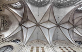 VIENNA, AUSTRIA - FEBRUARY 17, 2014: Gothic ceiling in church of the Teutonic Order or Deutschordenkirche. — Stock Photo