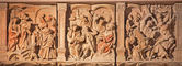 VIENNA, AUSTRIA - FEBRUARY 17, 2014: Medieval reliefs of Jesus torture from St. Stephens cathedral or Stephansdom. — Stock Photo