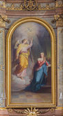 VIENNA, AUSTRIA - FEBRUARY 17, 2014: Annunciation from main altar of baroque Servitenkirche - church completed in 1670. — Stock Photo