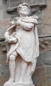 Bergamo - Statue of scribe Torquato Tasso by Giovanni Battista Vismara from year 1681. — Stock Photo
