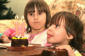 Birthday of little girl — Stock Photo