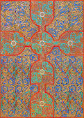 старый кельтский евангелие вдохновил рисунок из крест — Стоковое фото