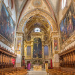 ������, ������: BOLOGNA ITALY MARCH 17 2014: Main nave and presbytery of baroque church San Girolamo della certosa