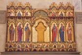 """Bologne, italie - 16 mars 2014 : autel """"politico"""" par paolo veneziano d'année 1345 dans l'église san giacomo maggiore. — Photo"""