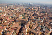 Bologna - Outlook from  Torre Asinelli to east in morning with the church San Giacomo Maggiore — Stock Photo