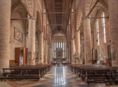 TREVISO, ITALY - MARCH 18, 2014: Interior of saint Nicholas or San Nicolo church. — Stock Photo