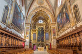 BOLOGNA, ITALY - MARCH 17, 2014: Main nave and presbytery of baroque church San Girolamo della certosa. — Stock Photo