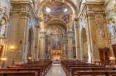 BOLOGNA, ITALY - MARCH 17, 2014: Main nave of baroque church Chiesa Corpus Christi. — Stock Photo