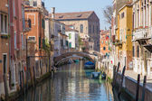 Venice - Look to canal form bridge Ponte dei Gesuiti — Stock Photo