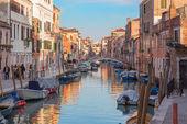 VENICE, ITALY - MARCH 13, 2014: Fondamenta dei Riformati street and canal. — Stock Photo