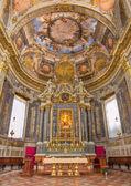 BOLOGNA, ITALY - MARCH 16, 2014: Chapel of Rosary or Cappella del Rosario in baroque church San Domenico - Saint Dominic from 16. - 17. cent. — Stock Photo