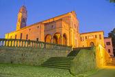 BOLOGNA, ITALY - MARCH 17, 2014: Church San Michele in Bosco in evening dusk. — Stock Photo