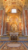 BOLOGNA, ITALY - MARCH 15, 2014: Side chapel of st. Anne by Davide Venturi del 1906 in Dom - Saint Peters baroque church. — Stok fotoğraf