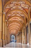 BOLOGNA, ITALY - MARCH 16, 2014: External corridor  from Via Farini street in morning. — Stock Photo