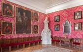 サン アントン、スロバキア - 2014 年 2 月 26 日: カール emrich (1727年-1731 年) の宮殿でトルコとの戦争からの栄光の役人の肖像画を持つ主なサルーン サン アントン. — ストック写真
