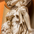 BOLOGNA, ITALY - MARCH 15, 2014: Baroque statue of Saint Mark the Evangelist from west portal of church Chiesa della Madonna di San Luca. — Stock Photo #44238077