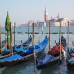 Venice - gondolas and San Giorgio Maggiore church — Stock Photo #44239871